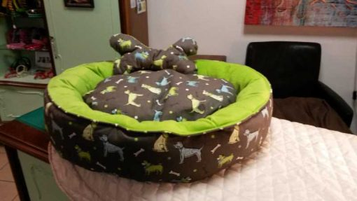 """Bett """"Hund grün"""""""